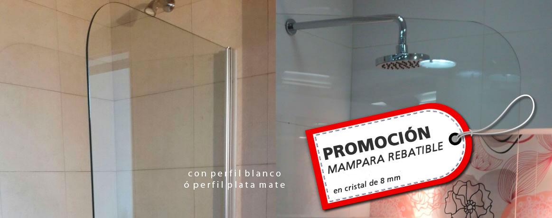 Promocion mampara rebatible